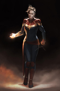 Captain Marvel Hd Art