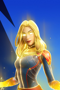360x640 Captain Marvel In Fortnite 4k