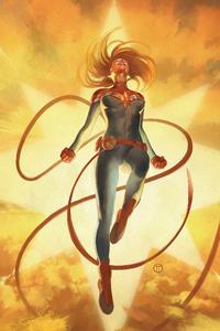 Captain Marvel In Sky