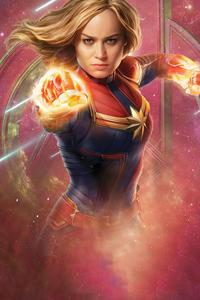 720x1280 Captain Marvel Infinity Saga 5k