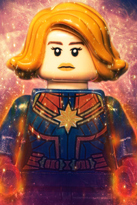 Captain Marvel Lego 4k