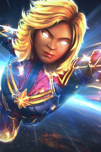 240x320 Captain Marvel Marvel Contest Of Champions