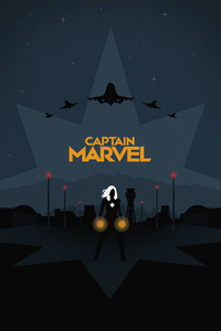 Captain Marvel Minimal Poster