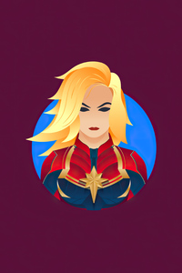 Captain Marvel Minimalism 4k