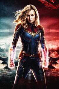 Captain Marvel Movie 2018 5k