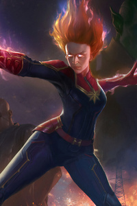 Captain Marvel Movie Concept Art