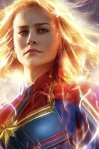 480x854 Captain Marvel Movie New Poster