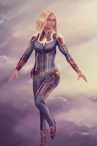 Captain Marvel New Digital Art