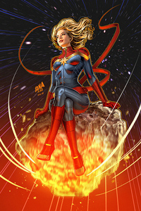 1125x2436 Captain Marvel No1