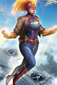 Captain Marvel Pilot 4k