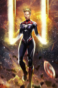 640x1136 Captain Marvel Powers