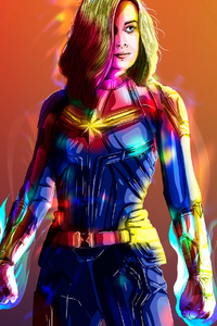 640x1136 Captain Marvel4k Artwork