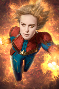 1125x2436 Captain Marvel4k New