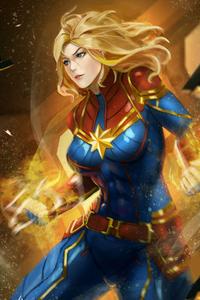 360x640 Captain Marvelart