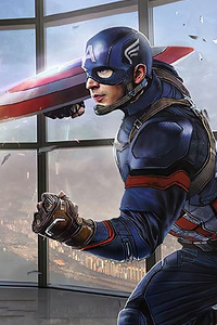 1125x2436 Captain Vs Captain America 4k
