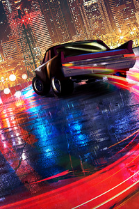 1125x2436 Car Drifting Neon Lights 4k