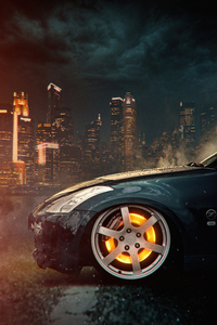 1280x2120 Car Glowing Wheel Disc