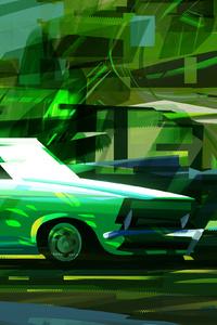 1080x2280 Car Illustration