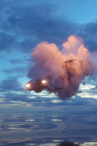1440x2960 Car In Clouds