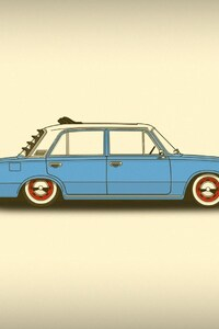 Car Minimalism Simple Art