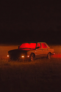 750x1334 Car Night Field Dark 4k