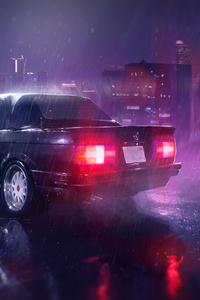 Car Raining Night