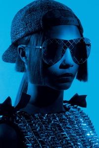Cara Delevingne Chanel Eyewear Photoshoot
