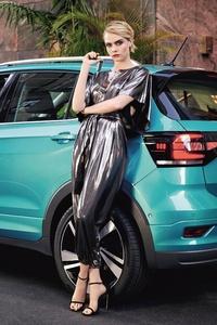 Cara Delevingne VW T Cross 2019 4k