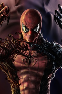 Carnage Venom Spiderman Artwork