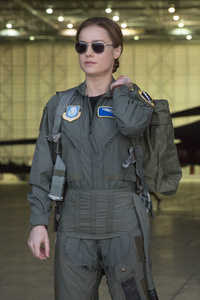 Carol Danvers In Captain Marvel Movie 2019 5k