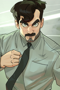 320x568 Cartoon Henry Cavill As August Walker In Mission Impossible Fallout