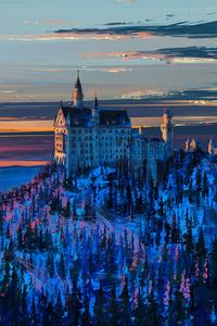 640x1136 Castle In Sky