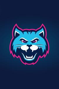 Cat Logo Minimal 4k