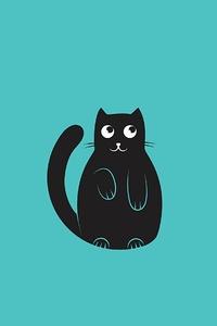 Cat Minimal Art 4k