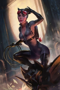 800x1280 Cat Woman With Rope Comic Art