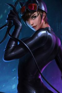 640x1136 Catwoman 4k
