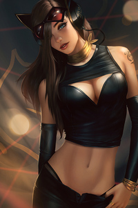 Catwoman Black Dress