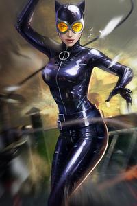 Catwoman Digital Art 4k