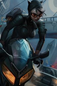 Catwoman On Bike