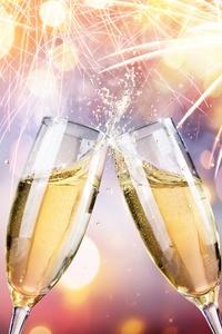 Celebration Champagne Fireworks