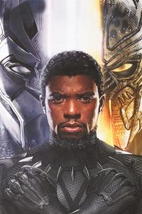 750x1334 Chadwick Aaron Boseman Black Panther 4k