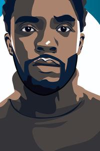 1080x2280 Chadwick Boseman Illustration