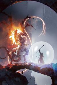 480x854 Challenging Dragon Monster 4k