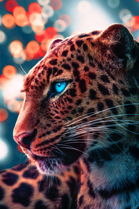 1080x2280 Cheetah Magical Eyes 4k