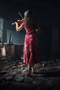 Chernobylite Violin Girl