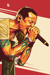 Chester Bennington Digital Art 4k