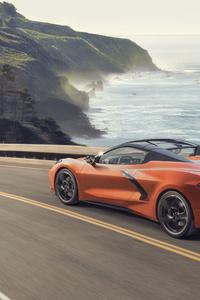 480x800 Chevrolet Corvette C8 Stingray Convertible 2020