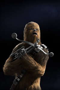 Chewbacca Star Wars Battlefront 2 5k