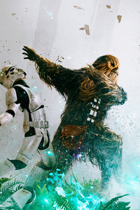 Chewbacca Vs Stormtrooper Star Wars Episode VI Return Of The Jedi