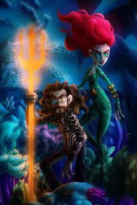 Chibi Aquaman And Mera